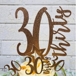 Rose Gold Age Cake Topper