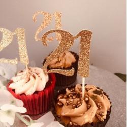 21st Birthday Cupcake Topper