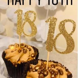 18th Birthday Cupcake Topper