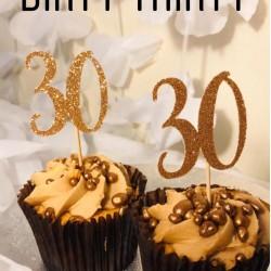30th Birthday Cupcake Topper