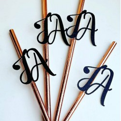 Personalised Party Straws, Personalised Initial Party Straw