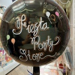 Personalised Black Foil Balloon