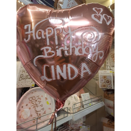 Rose Gold Personalised Balloon