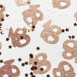 Any Age Number Table Confetti