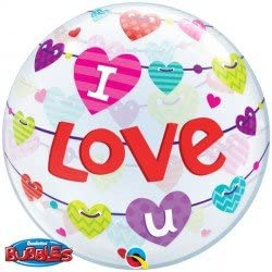 I Love U Banners Hearts