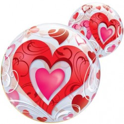 Red Hearts Bubble