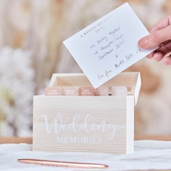 Wooden Wedding Memory Box