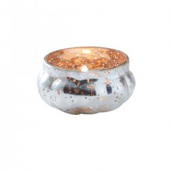 Gold Melon Frosted Tealight Holder
