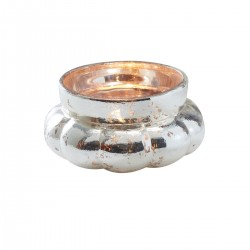 Gold Large Frosted Tealight Holder