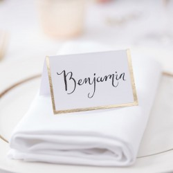 Gold Foiled Wedding Place Cards